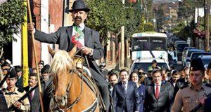 Conmemoraron ayer el 104 aniversario de la Marcha de la Lealtad, en ceremonia presidida por el gobernador, José Rosas Aispuro Torres, y el comandante de la Décima Zona Militar, General Homero Mendoza Ruiz.